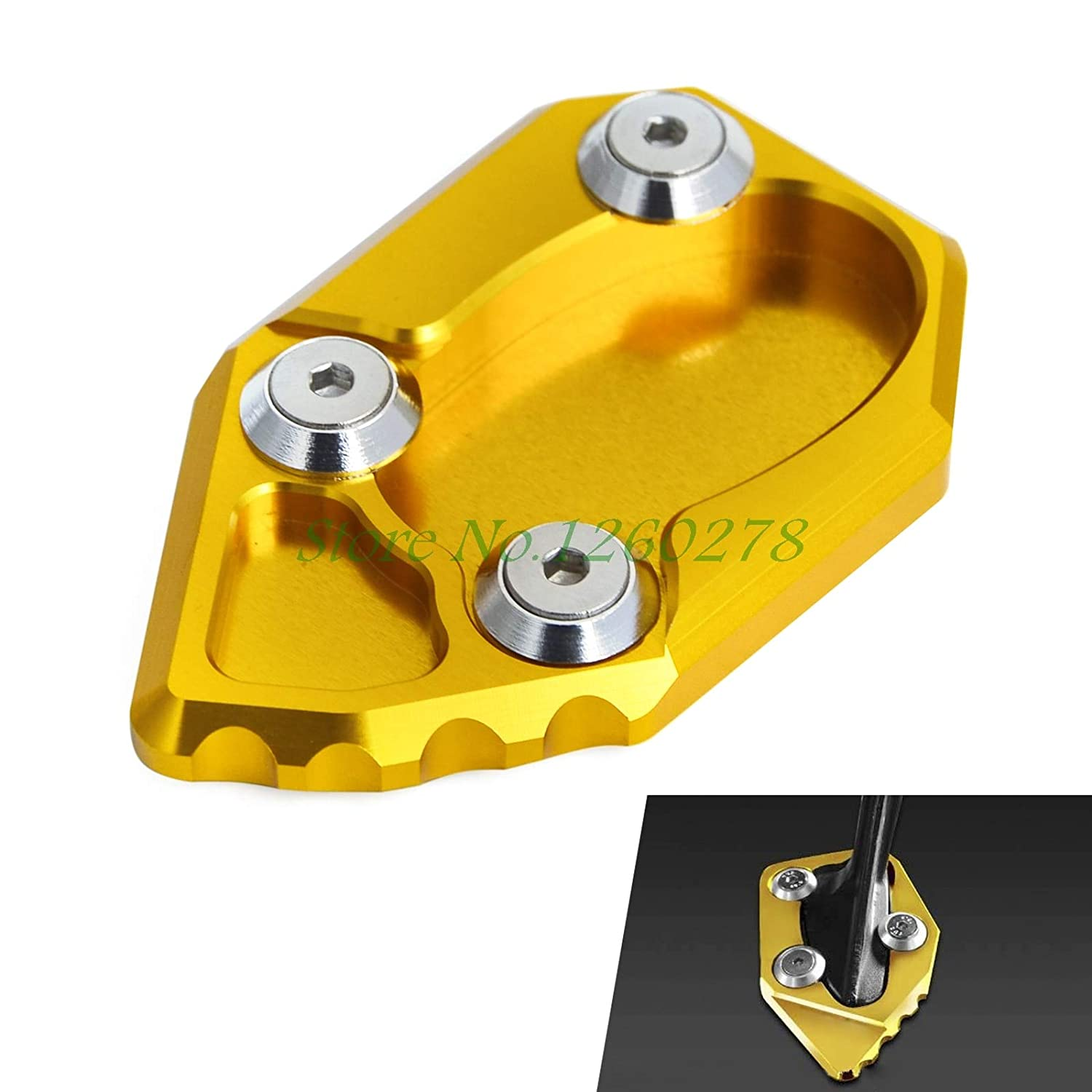 Douglas-store Anodized Side Stand Enlarger Plate Extension Pad Aluminum For MV AGUSTA Brutale 1078 F4 Brutale 990R US
