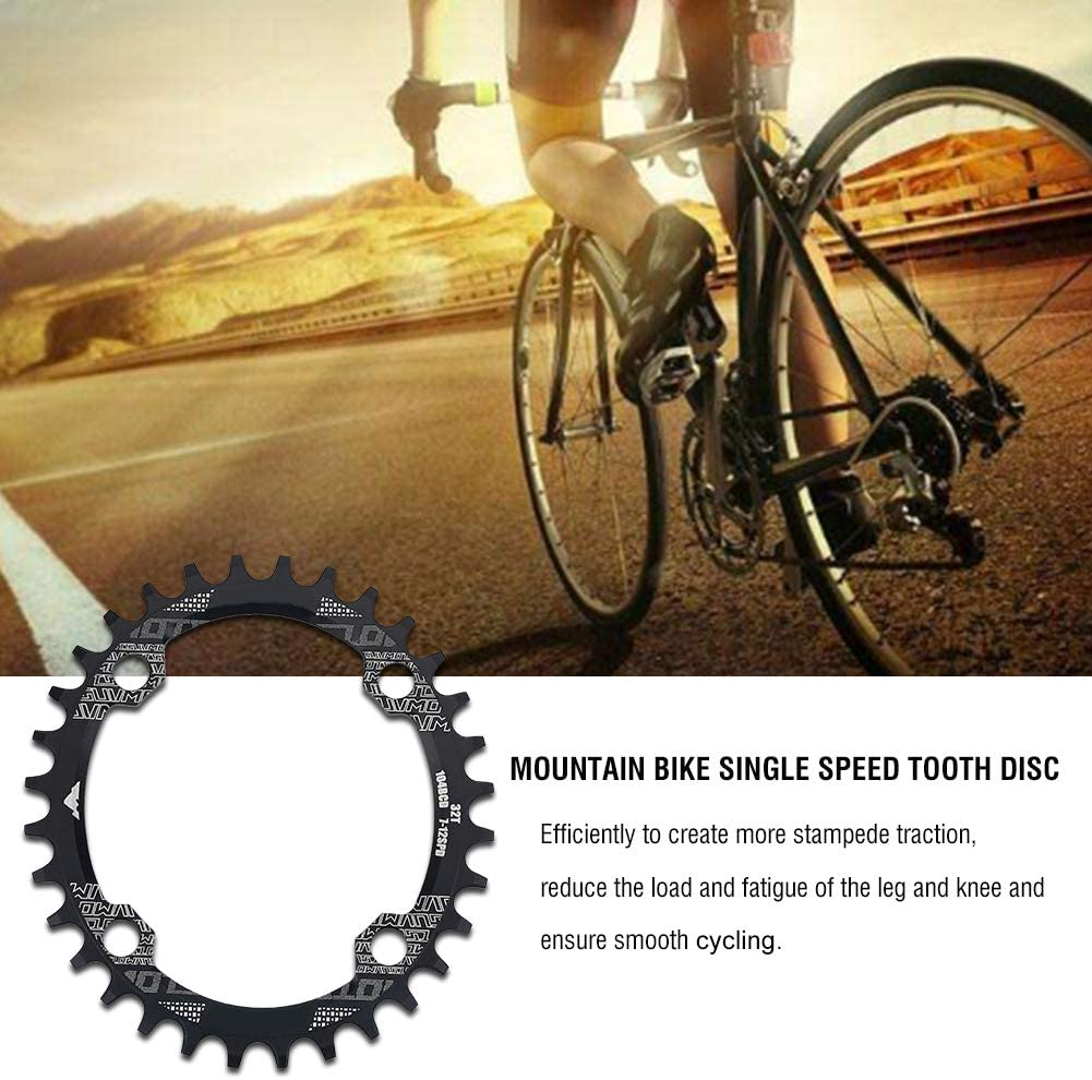BCD 104 mm OhhGo Corona ovalada de aleaci/ón de aluminio corona ovalada para bicicleta de una sola velocidad