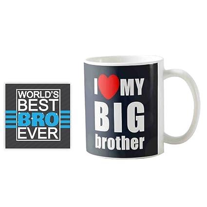 YaYa CafeTM Birthday Gifts For Brother I Love My Big Quote Printed Mug 330 Ml Rakhi Amazonin Home Kitchen