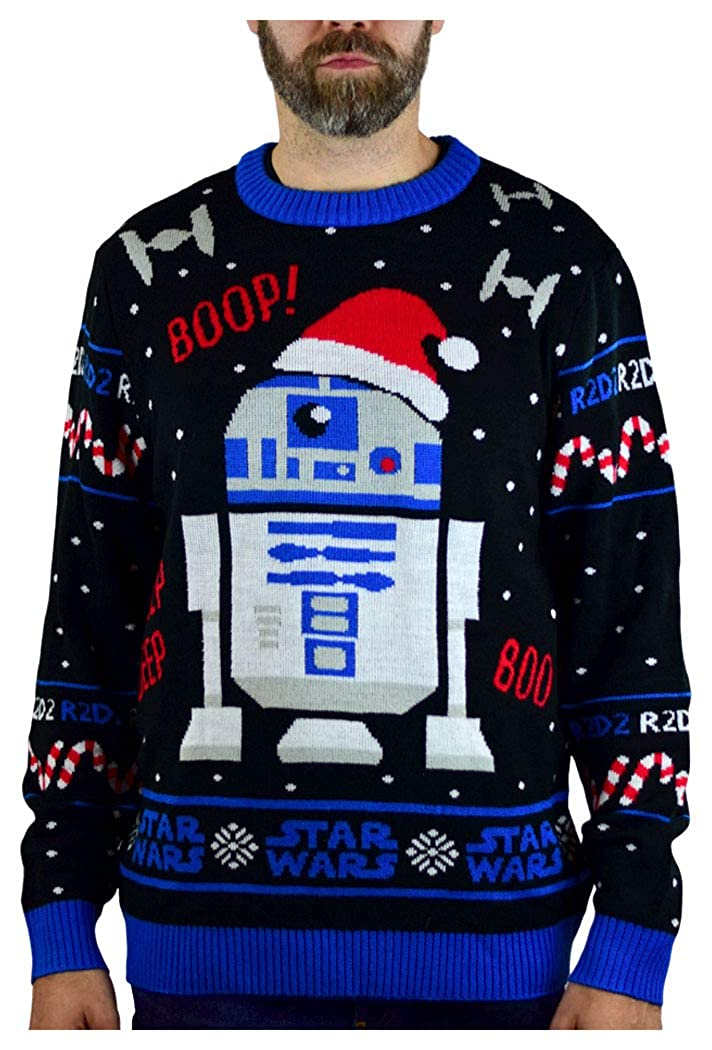 Star Wars Sweater R2D2 Ugly Christmas Sweater Men Women Holiday Sweater