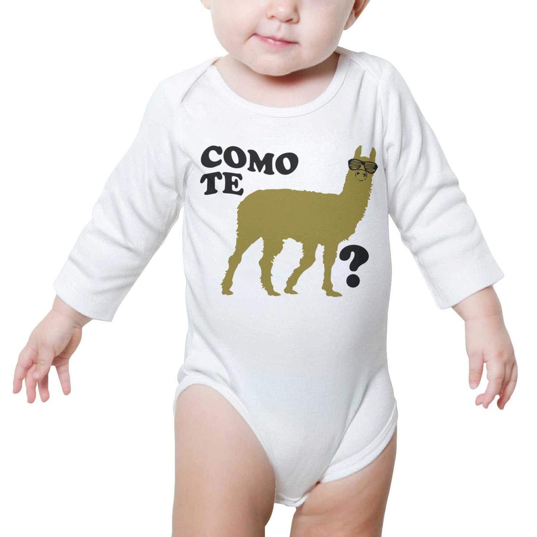 Llama Como Te Long Sleeve Neutral Baby Onesies Bodysuit 0-3 Months for Newborn Infant