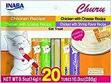 #7: INABA Churu Chicken Lickable Creamy Puree Cat Treats Variety 20 Tubes