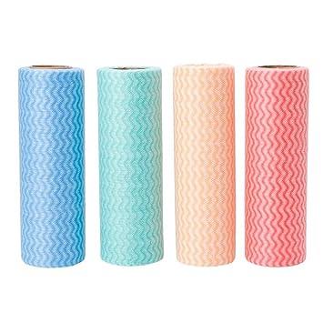 Bluelans 50sheets/rollo desechables Tela no tejida paño de cocina toallas de limpieza trapos 19.5