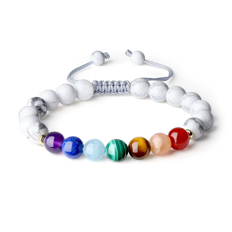 AmorWing Shamballa Inspired 7 Chakra Stone Bracelet Men Women N427-3