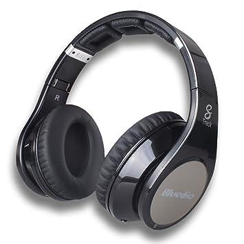 Bluedio R + Auricular estéreo Bluetooth Revolución 8 Pistas de Sonido Micrófono Construido NFC Jugador Mp3