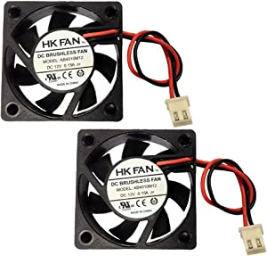 2packs 40mm x 40mm x 10mm 4010 12V 0.15A Brushless DC Cooling Fan 2pin AB4010M12 UL TUV