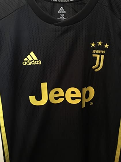 2018-2019 Away Home C Ronaldo #7 Juventus Kids Youth Soccer Jersey & Shorts & Socks Black Solid Quality for the Price