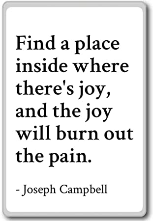 Find A Place Inside Where Theres Joy And Joseph Campbell