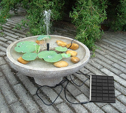 Sunnytech solar power water pump kits garden fountain for Outdoor fish pump