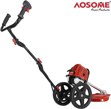 AOSOME - Cortador de césped de jardín con Ruedas (52 CC, 2 Tiempos, Gasolina): Amazon.es: Jardín