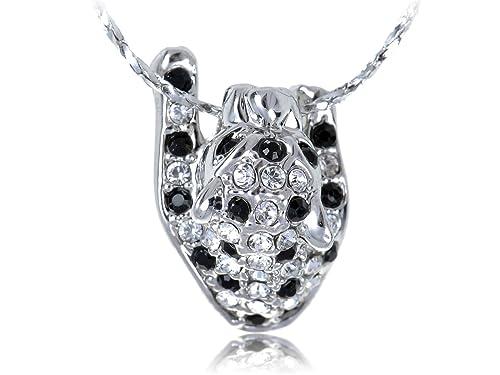 3dd9cba9a40da Amazon.com: Alilang Jet Black and Clear Swarovski Crystal Spots ...