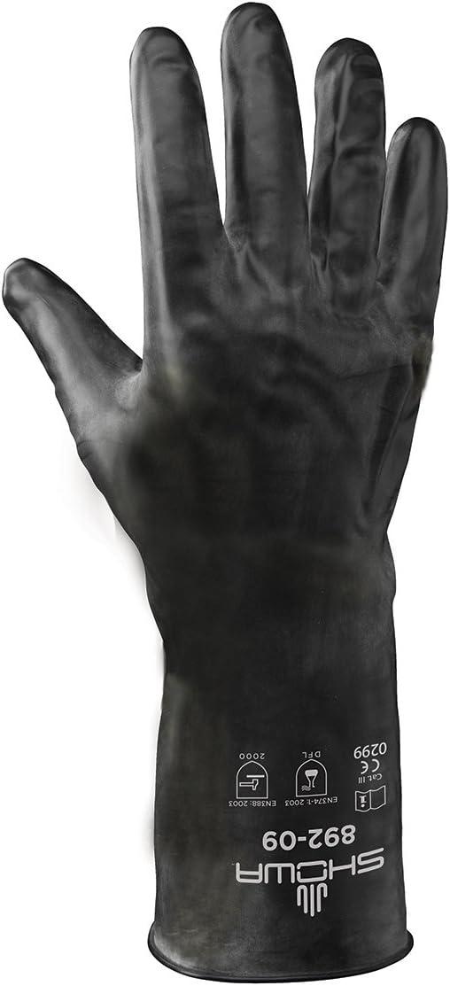 Small 1 Pair Showa 892 Unlined Viton Over Butyl Glove