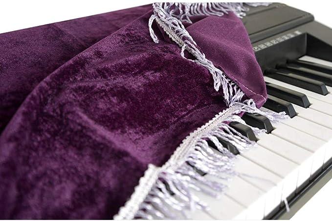 ottima protezione per tastiera pianoforte 61 Note-Purple Copertura antipolvere per tastiera pianoforte con coulisse HomDSim compatibile con tastiere da 61 e 88