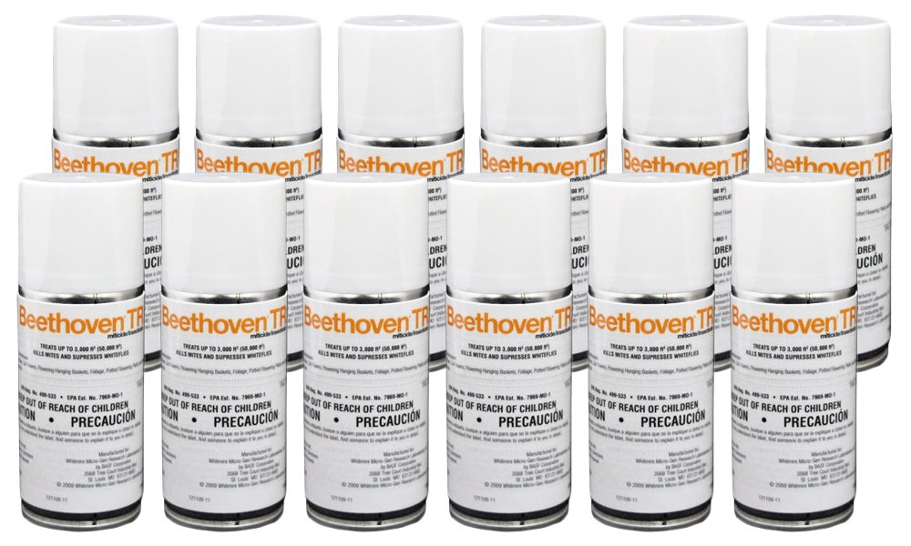 Beethoven TR 2 oz (12 Count) Total Release Insecticide Miticide Aerosol Fogger Spider Mite Killer Bomb Whitefly Mites Pest Control
