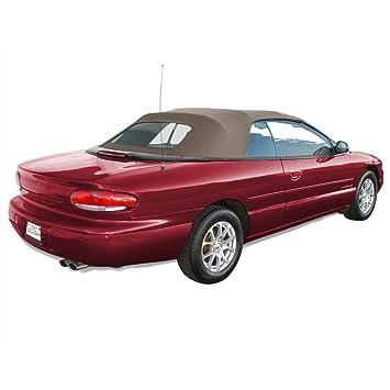 Chrysler Sebring Convertible Top para 96 - 00 - Gamuza de modelos en twillfast con ventana de cristal: Amazon.es: Coche y moto
