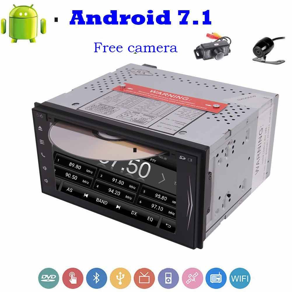 Double Din 7'' Android 7.1 Car Stereo HD Capacitive Touch Screen In Dash Stereo with GPS Navigation Car DVD Player Support Bluetooth/WiFi/1080P Video with Front & Backup Camera B076H49SG2