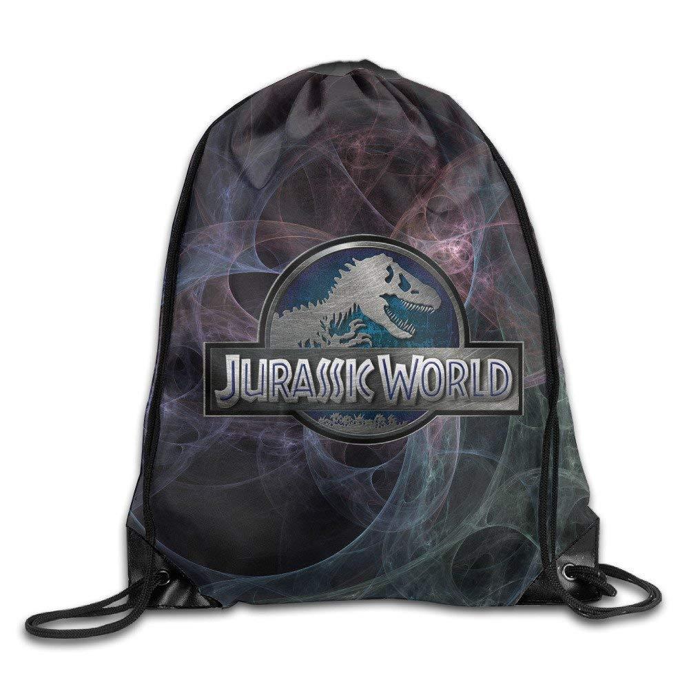 Creative Design Jurassic World Movie Drawstring Backpack for Men and Women Usicapwear