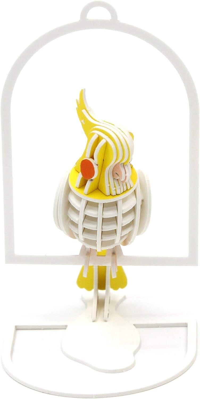 Bird Collection Miniature Animal Craft Kit Owl Team Green JIGZLE Paper 3D Puzzle