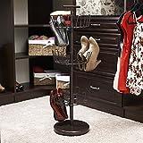 Household Essentials 2138 Three-Tier Adjustable Revolving Shoe Rack - Bronze
