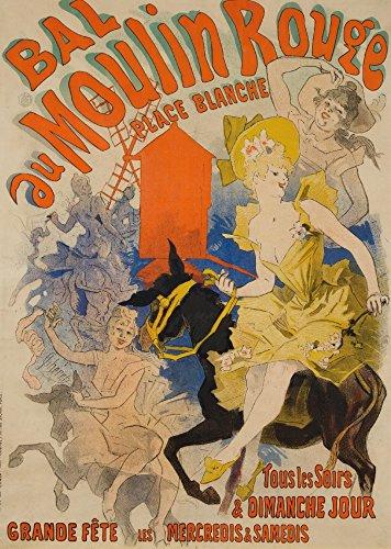 - Bal du Moulin Rouge (larger) Vintage Poster (artist: Cheret) France c. 1889 (16x24 Giclee Gallery Print, Wall Decor Travel Poster)