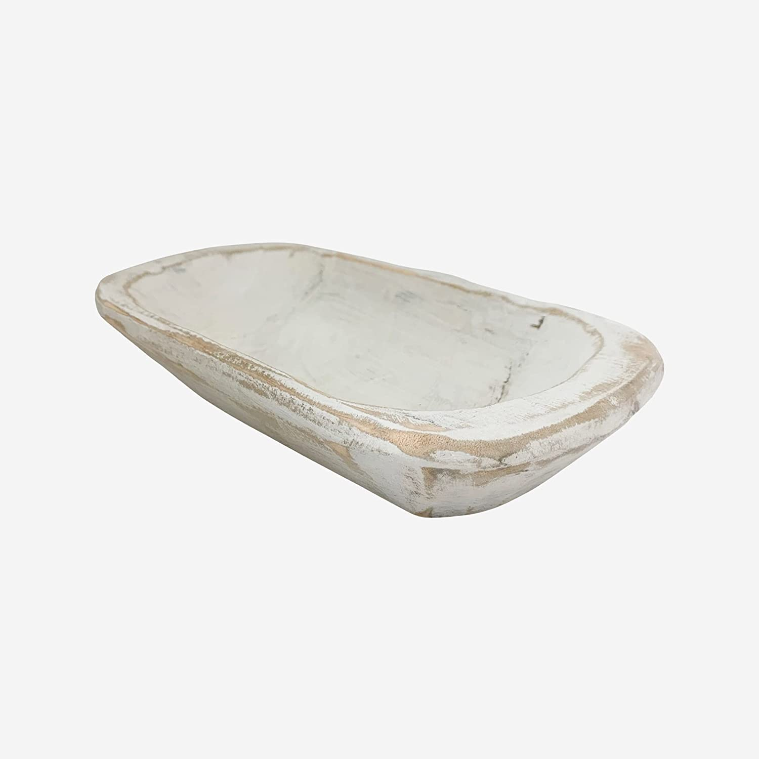 Dough Bowl, White Wood Bowl for Decoration. Perfect for Rustic, Farmhouse Decor. These Hand Carved, Wooden Bowls may be used for Wax Filling, Decorative Centerpiece or Display