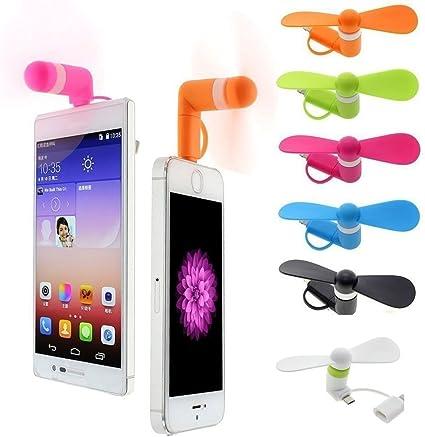 aybo 6-Pack Mini teléfono Ventilador 2 en 1 Micro USB Mini ventilador para iPhone/iPad y teléfonos Android, al aire libre ventilador de refrigeración herramienta: Amazon.es: Oficina y papelería