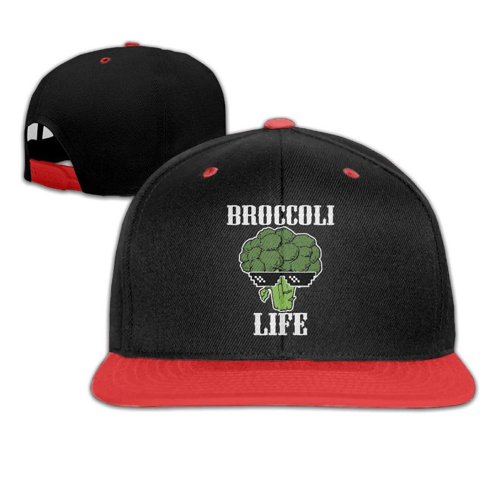 HERSTER Childrens Boys/&Girls Broccoli Life Baseball Caps Snapback Flat Brim Caps