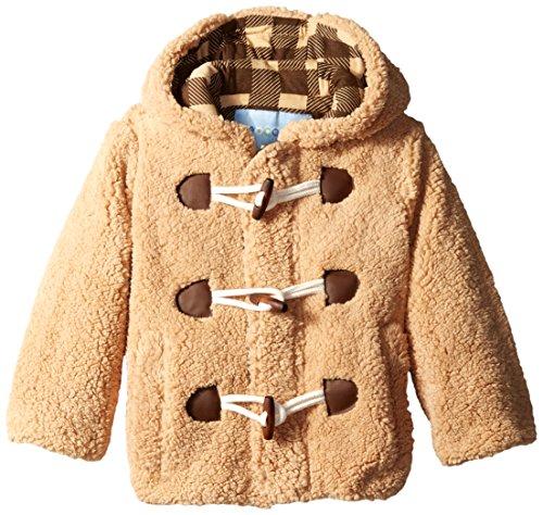 Wippette Little Boys' Wooly Fleece Toggle Coat, Khaki, 4T
