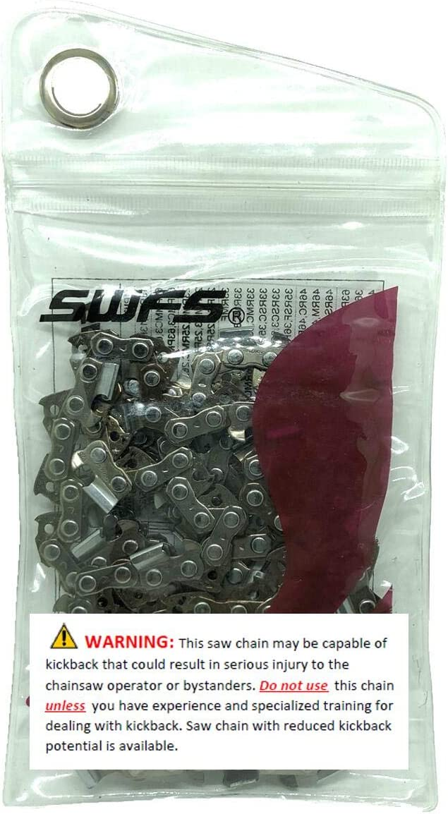 """Reliable Replacement 12"""" Semi Chisel Saw Chain S45 Compatible with Craftsman, Echo, Hitachi, Husqvarna, Makita and Others. Also Replaces Husqvarna H37 45, Stihl 63PM3 45"""