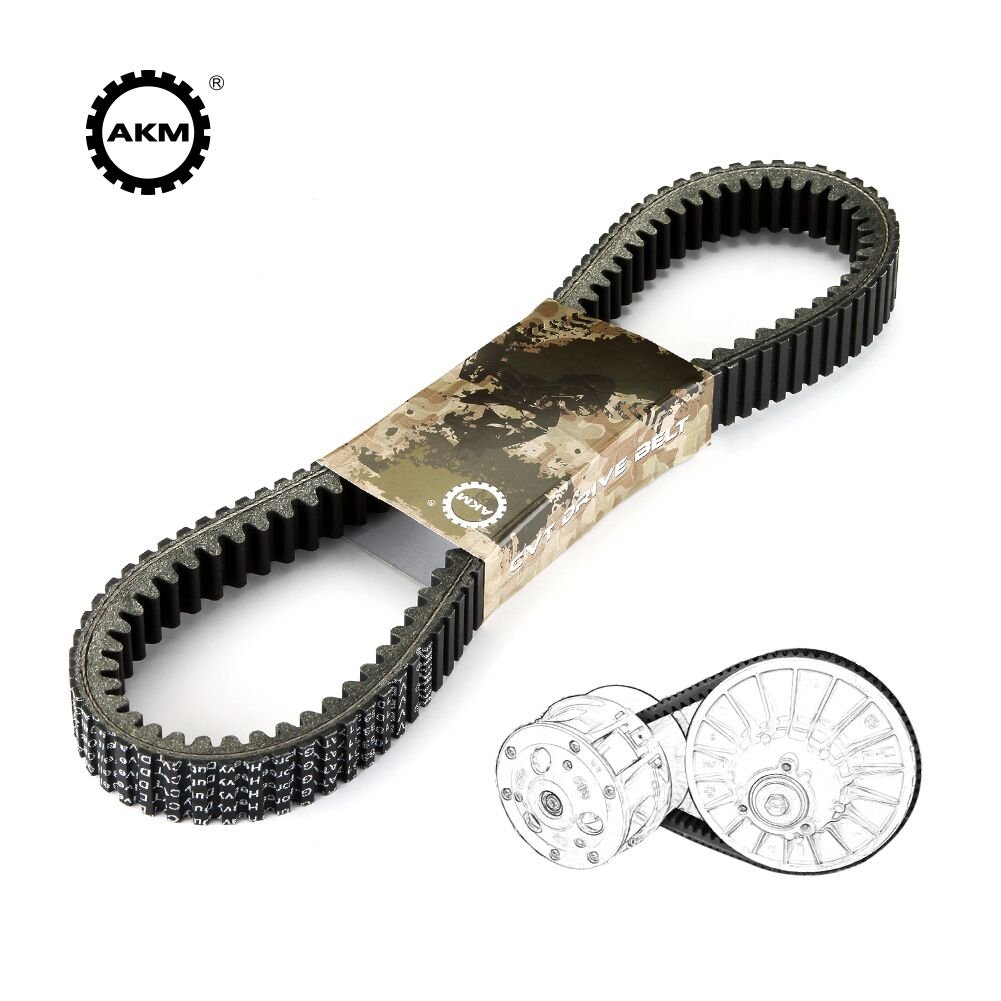 Drive Belt fit Polaris 3211162 3211133 3211118, AKM Double Notch UTV G-Force Carbon Cord CVT Belts Fit for Polaris RZR 800 2013 2014