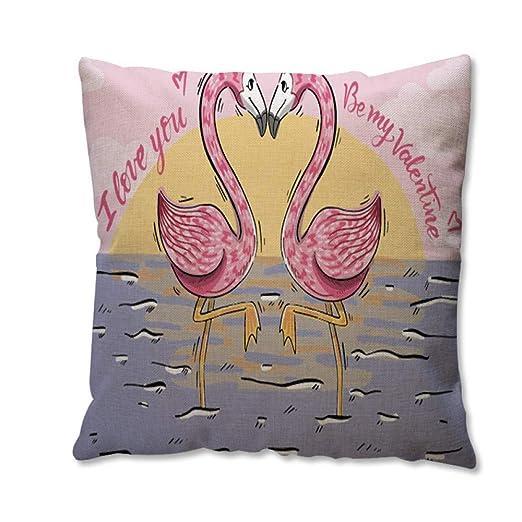 WDDGPZBZ Almohada Lino Creative flamingbird Cojín Publicidad ...