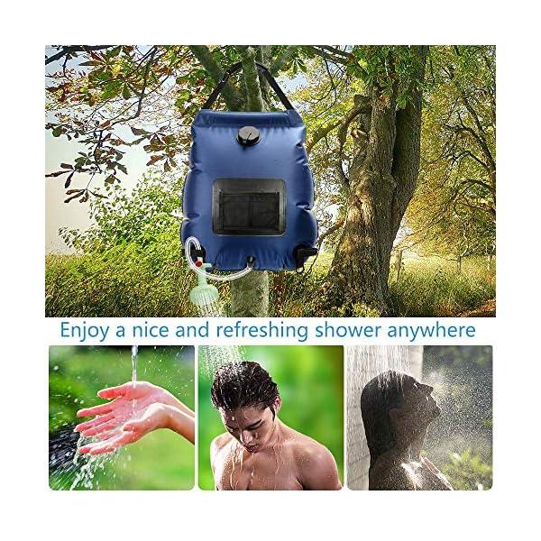 61urGmHJihL KIPIDA Solardusche Outdoor, 20L Campingdusche Solar Wassersack Heizung Camping Dusche Tasche mit Duschkopf Gartendusche…