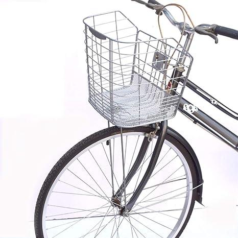 FYLY-Cesta Delantera para Bicicleta, Duradero Universal Alambre de Espino Cesta Delantera para Bici, Accesorios para Bici de Montaña/Bici Plegable/ Bici Eléctrica: Amazon.es: Deportes y aire libre