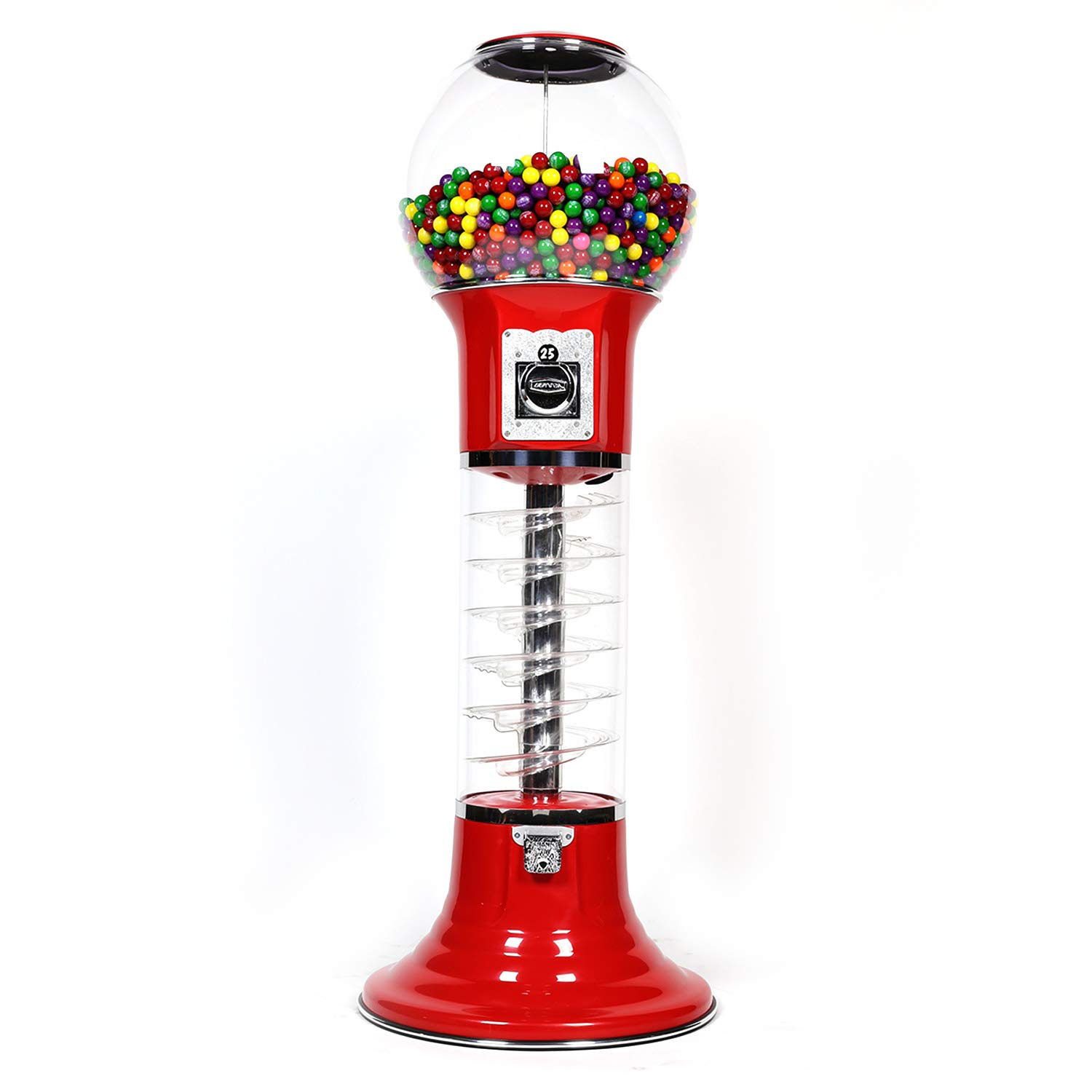 Spiral Gumball Vending Machines - Original Wizard 4'10'' - $0.25 (Red)