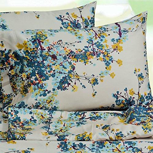 Price comparison product image TRIBECA LIVING Casablanca Floral Printed Deep Pocket Sheet Set Twin XL 3 Piece