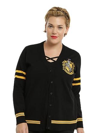 4d17fcf1947 Harry Potter Hufflepuff Girls Cardigan Plus Size at Amazon Women's ...