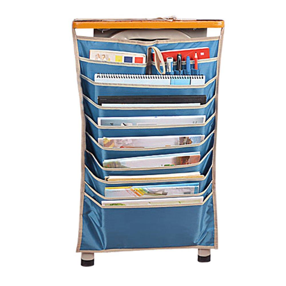 Kangkang@ Home Office School Multi-layer Desk Organizer Desk Hanging Bag Student Stationery Bag Book Storage Bag Bookend Rack (blue)
