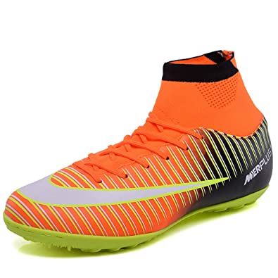 366d9bbce4990d CR Indoor TF Turf Cleats Boys High Tops Ankle Boots Women Turf Messi  Outdoor Soccer Shoes