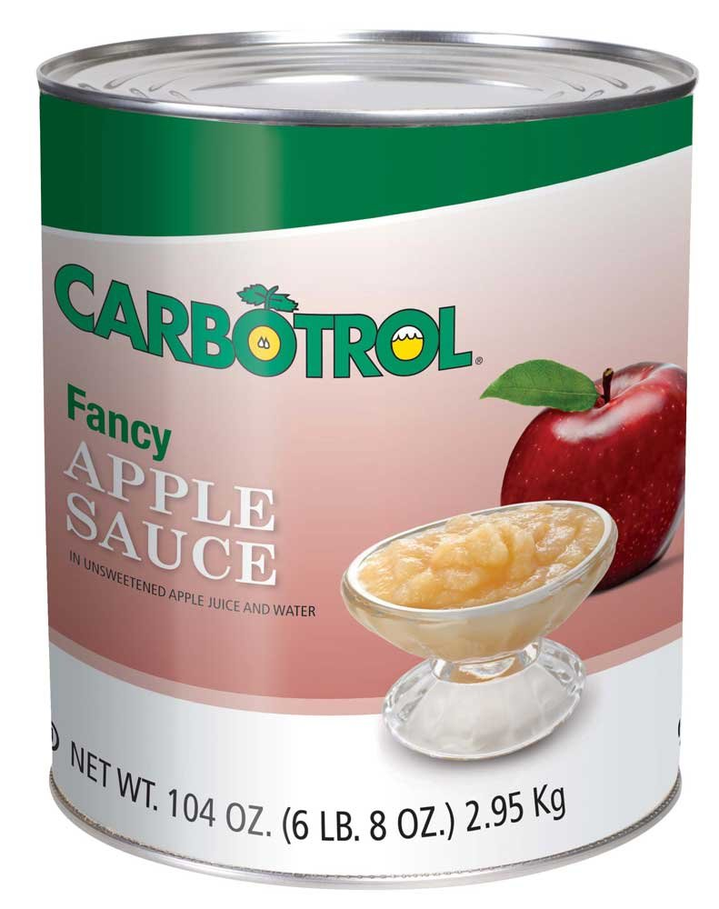Fruit Carbotrol Applesauce, no. 10 Can -- 6 per Case by Leahy IFP
