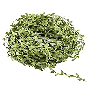 Acerich Artificial Vines, 132 Ft Fake Hanging Plants Silk Ivy Artificial Leaf Garlands Simulation Foliage Rattan Green Leaves Decorative Home Wall Garden Wedding Party Wreaths Decor 2