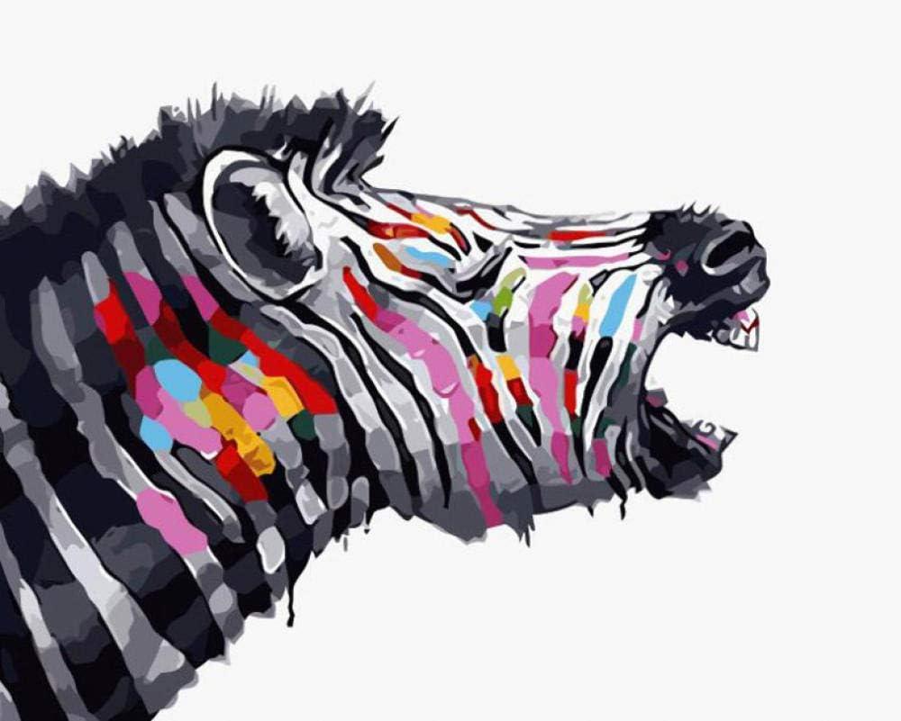 Qianera Zebra Tiere Diy Malen Nach Zahlen Kit Modern Home Wandkunst Bild Acryl Färbung Nach Zahlen Kunstwerk 16x20 Inch Amazon De Küche Haushalt