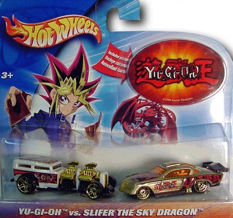 Hot Wheels Yu-Gi-Oh! vs. Slifer The SKy Dragon 1/64 Scale Die Cast Set w/ Sticker (Hot Cars Wheels Stickers)