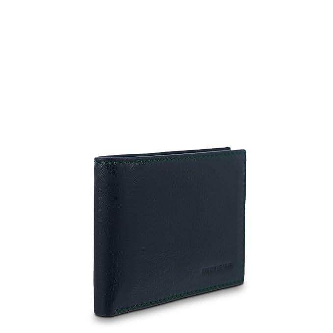 Cartera Piel Titto Bluni diseño americano color negro e interior verde: Amazon.es: Equipaje