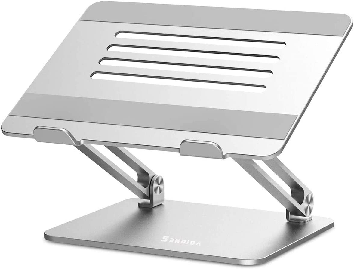 Sendida Laptop Stand Adjustable - Laptop Riser Stand MacBook Pro Stand for Desk, Aluminum Notebook Stand Laptop up to 17 Inches, Laptop Holder Compatible for MacBook, Surface Laptop