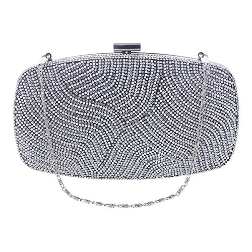 Pochette or Strass Synthétique Perle Main Damara Sac Glitter Fête à Femme Embrayage Raffiné de Sac Soirée ZSqnnCx5w