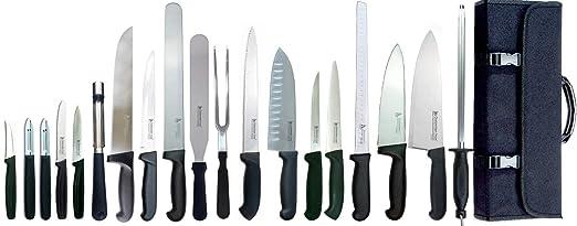 Dolomiten Inox MASTER CHEF - Juego de 20 cuchillos de chef ...