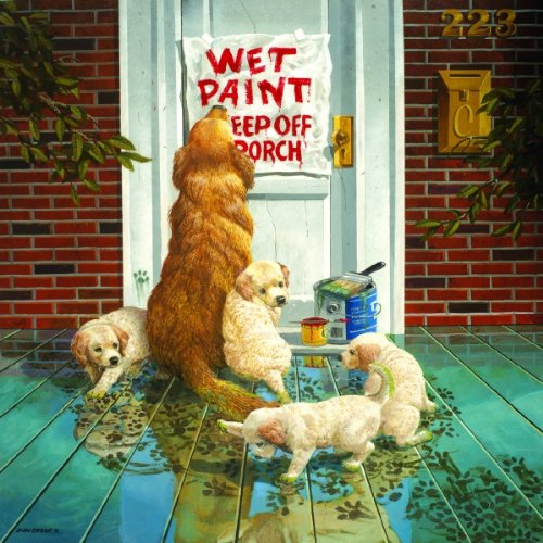 (SunsOut Wet Paint - Dog and Puppy Puzzle - 1000 pc Jigsaw Puzzle )
