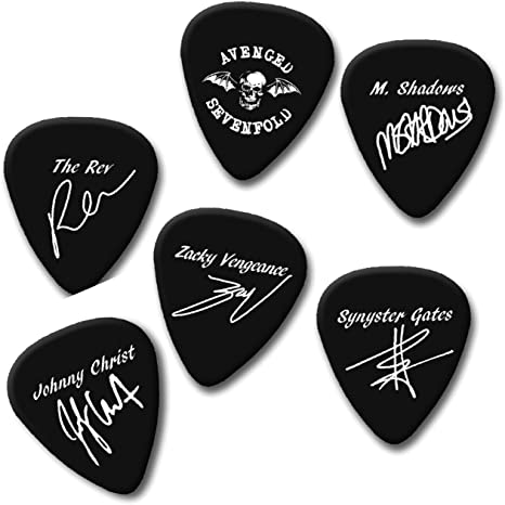 Avenged Sevenfold A7 X Synyster mate firma impresión Plectrum Púa ...