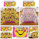 Emoji Comforter Set Twin Emoji Complete 4 Piece Girls Bedding Set - Twin