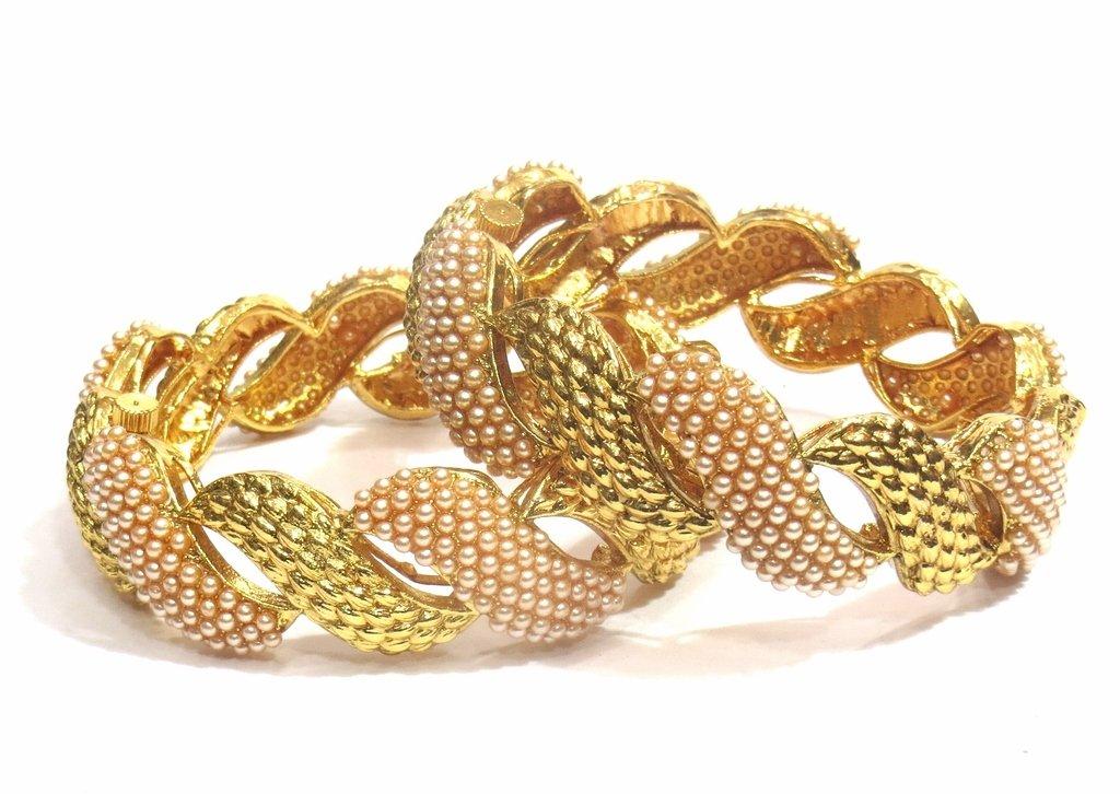 Jewelshingar Jewellery Fine Micro Plated Bangles For Girls ( 32540-m-2.8 )
